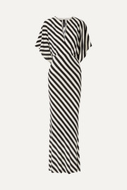 Norma Kamali Striped stretch-jersey maxi dress