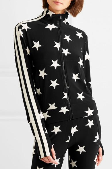 Norma Kamali Bedruckte Trainingsjacke aus Stretch-Jersey