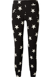 Printed stretch-jersey track pants