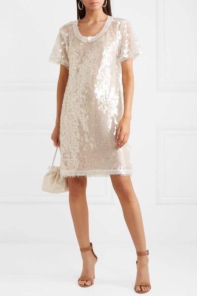 Norma Kamali Minikleid aus paillettenverziertem Tüll