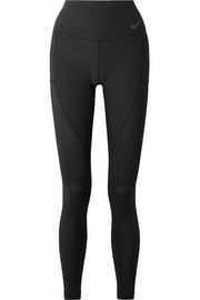 Power cropped mesh-paneled Dri-FIT stretch leggings