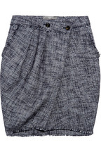 McQ Pleated tweed skirt