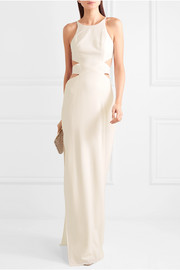 Cutout crepe gown
