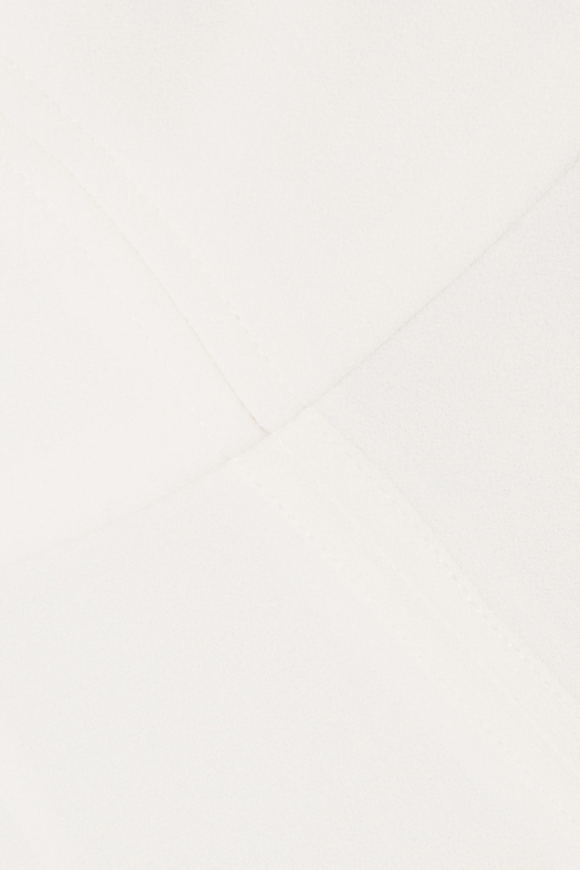 Halston Strapless layered crepe and chiffon jumpsuit