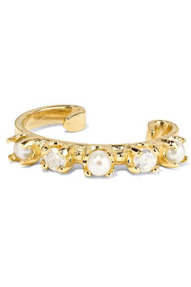 Noble 14-karat Gold Sapphire Earring - one size Loren Stewart inWbZz