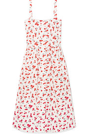 Laura printed cotton midi dress