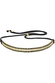 18-karat gold, diamond and cord necklace