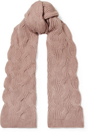 Johnstons of Elgin Cable-knit cashmere scarf