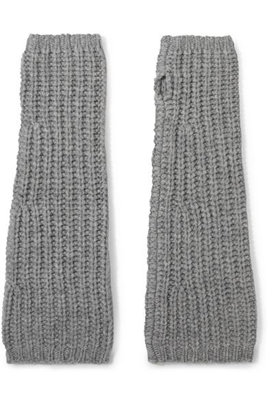 Johnstons of Elgin - Cashmere Fingerless Gloves - Gray