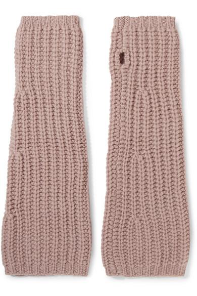 Johnstons of Elgin - Cashmere Fingerless Gloves - Blush