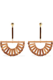 Cult Gaia Ark bamboo and gold-tone earrings
