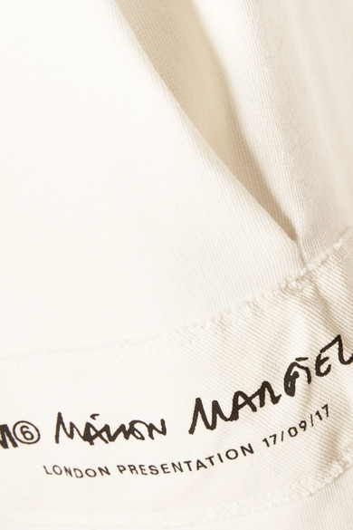 MM6 Maison Margiela Jogginghose aus Baumwollfrottee mit Applikation