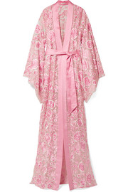 Naeem Khan Embroidered silk-organza coat