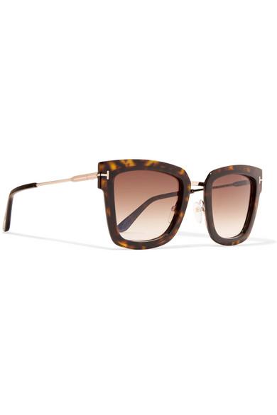 aeef79172c TOM FORD. Square-frame tortoiseshell acetate sunglasses