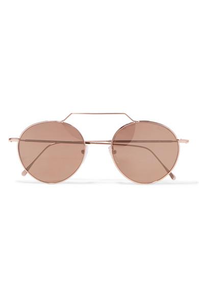 9809b268116 Illesteva. Wynwood II round-frame rose gold-tone sunglasses
