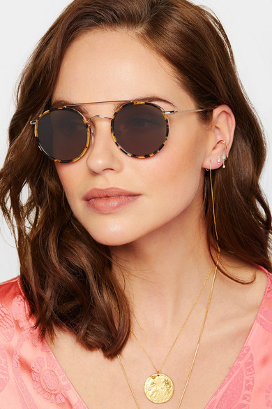 948b58d935e Illesteva. Allen round-frame acetate and gold-tone sunglasses.  230. Zoom In