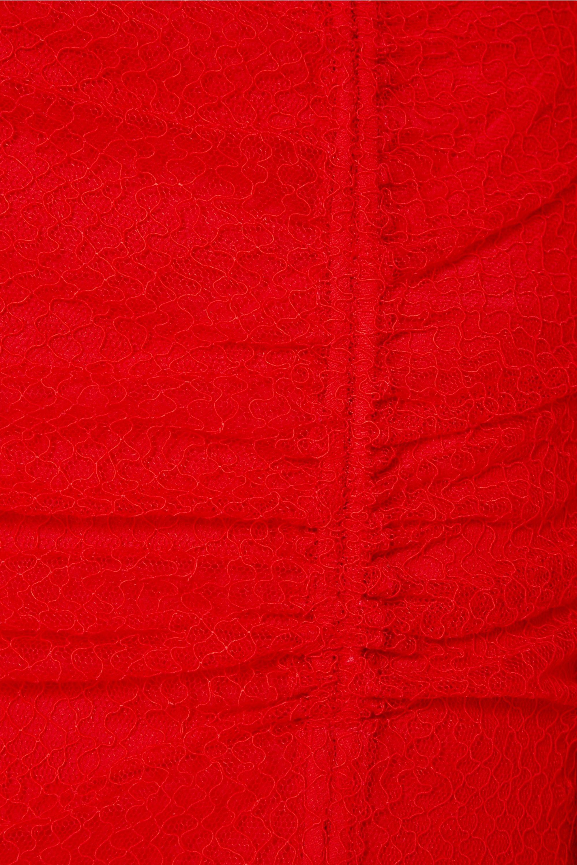 Diane von Furstenberg Ruched corded lace maxi dress