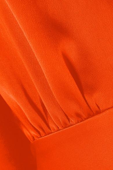 Diane von Furstenberg Bluse aus Satin mit Cape-Effekt
