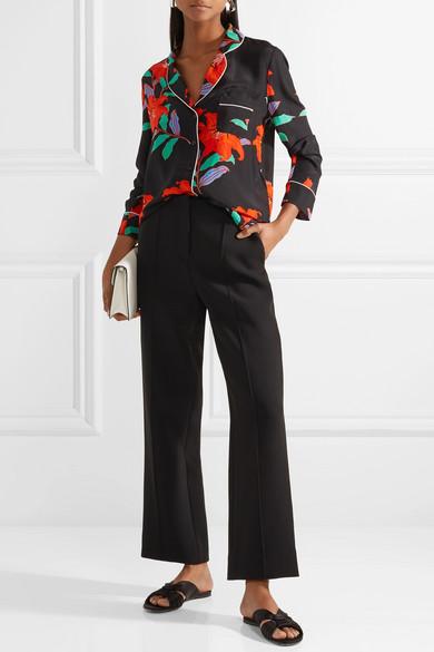 Diane von Furstenberg Hemd aus Crêpe de Chine aus Seide mit floralem Print