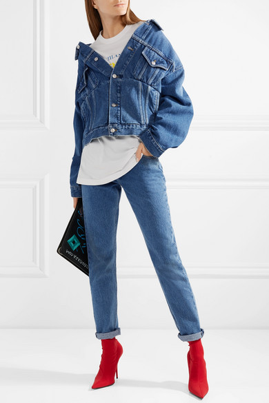 Balenciaga Oversized-Jeansjacke