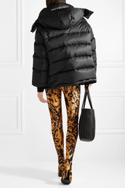Swing oversized embroidered quilted shell down jacket