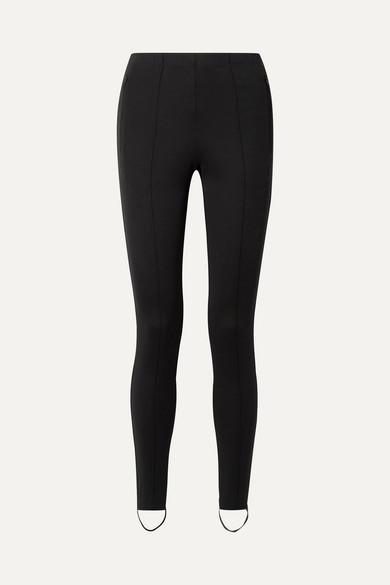 Balenciaga Jogger Leggings aus Stretch-Ponte mit Steg