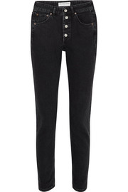 Tube high-rise straight-leg jeans
