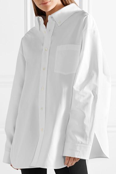 Swing Cotton-Poplin Shirt in White
