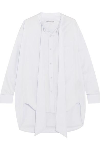 Balenciaga Swing Hemd aus Baumwollpopeline mit Print