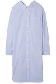 Balenciaga Striped cotton-poplin shirt dress