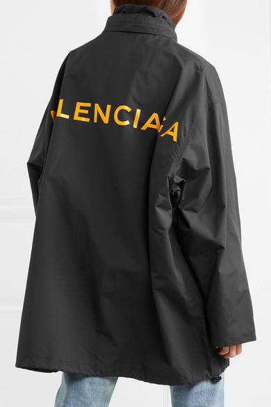 Balenciaga Oversized-Windbreaker-Jacke aus bedrucktem Shell