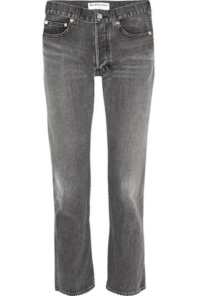 Balenciaga - High-rise Straight-leg Jeans - Gray at NET-A-PORTER