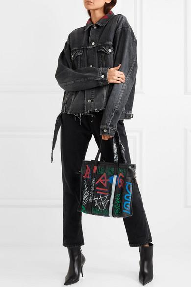 Balenciaga Bestickte Jeansjacke in Oversized-Passform