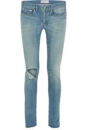 Balenciaga Distressed mid-rise skinny jeans