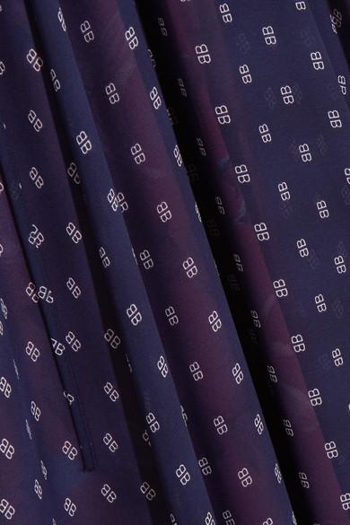 Balenciaga Flou bedrucktes Midikleid aus Georgette Strapazierfähiges fssqlb5U