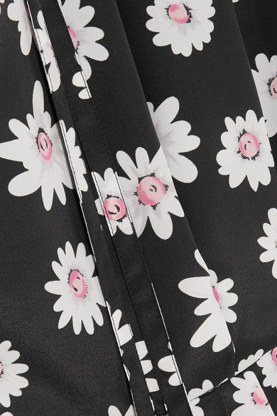 Balenciaga Oberteil aus Satin mit floralem Print