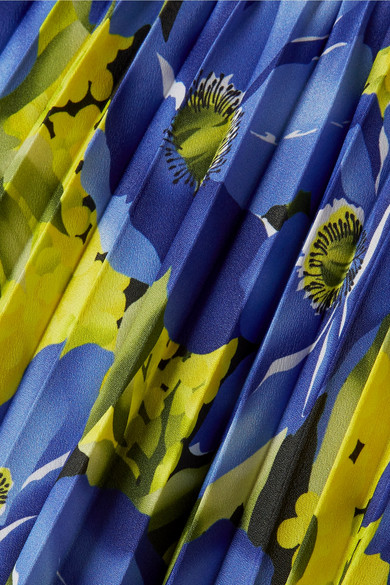Balenciaga Bedruckter Faltenrock aus Crêpe de Chine Rabatt Modische Freies Verschiffen Neuesten Kollektionen 33u7J8BO