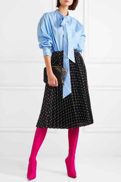 Balenciaga New Swing bedrucktes Hemd aus Baumwollpopeline