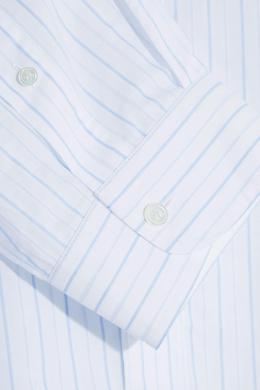 Balenciaga Oversized striped cotton-jacquard shirt