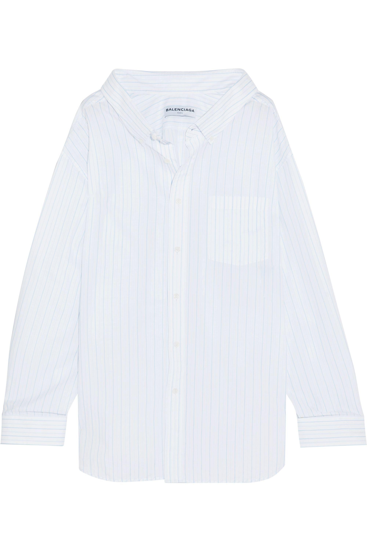 Balenciaga Oversized-Hemd aus Baumwoll-Jacquard mit Streifen