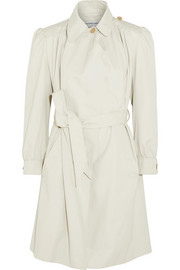 Pulled Feminin ruched cotton-canvas coat