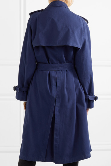 Balenciaga Pulled Oversized-Trenchcoat aus Baumwoll-Canvas