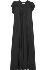 Balenciaga Flou silk-georgette midi dress