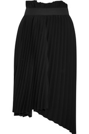 Balenciaga Fancy intarsia asymmetric pleated crepe skirt