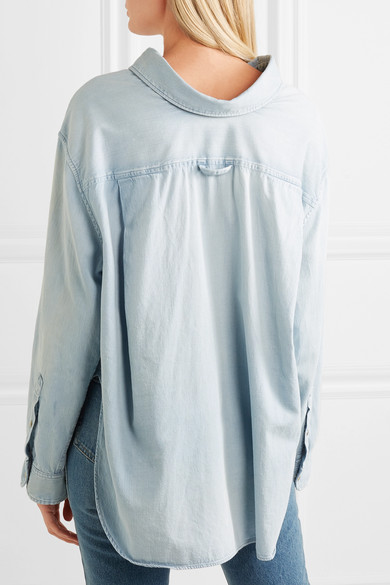 Balenciaga Hemd aus Baumwoll-Chambray