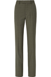 Le Monsieur checked wool and mohair-blend straight-leg pants