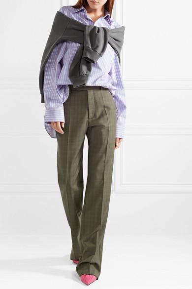 Balenciaga Le Monsieur karierte Hose mit geradem Bein aus einer Woll-Mohairmischung