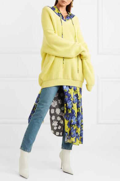 Balenciaga Oversized-Pullover aus einer gerippten Baumwollmischung