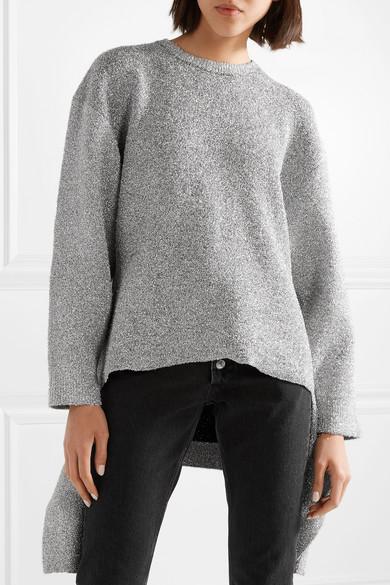 Balenciaga Strickpullover mit Metallic-Effekt