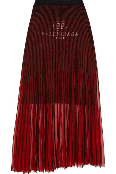 Balenciaga Plissierter Strickrock
